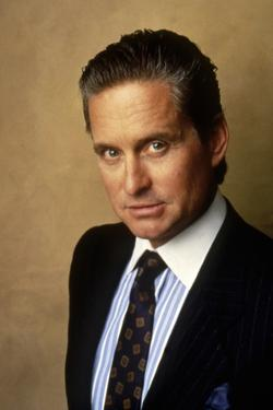 Wall street by Oliver Stone with Michael Douglas, 1987 (photo)