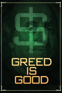 Wall Street Movie Greed is Good Plastic Sign