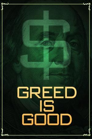Wall Street Movie Greed is Good Poster Print