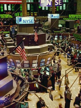 Wall Street, New York the Trading Floor of the New York Stock Exchange in New York City