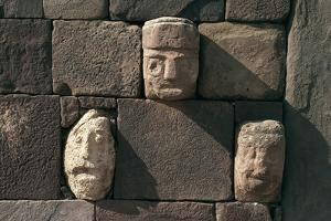 Wall with Stone Heads, Archaeological Site of Tiwanaku