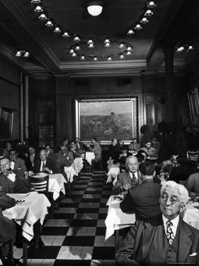 Henrici's, Chicago's Oldest Restaurant, Had Decorations and Superior Food, Filling with Politicians by Wallace Kirkland