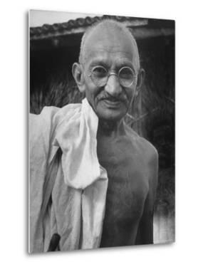 Leader of India, Mohandas Gandhi by Wallace Kirkland