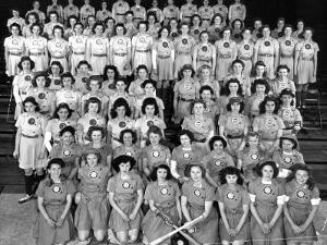 The All American Girls Professional Ball League Posing For a League Portrait in Their Uniforms by Wallace Kirkland
