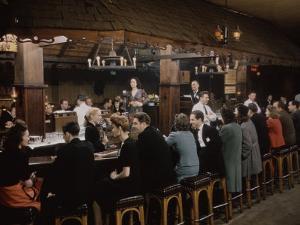 Ye Olde Celler Bar, Chicago, 1945 by Wallace Kirkland
