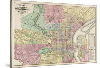 The Compact Portions of Philadelphia and Camden, 1872