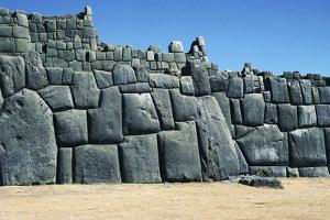 Walls of Saksaywaman Walled Complex, Cuzco