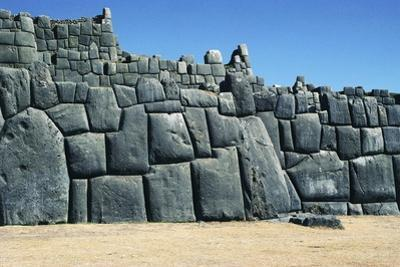 Walls of Saksaywaman Walled Complex, Cuzco