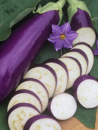 Eggplant, Neon by Wally Eberhart