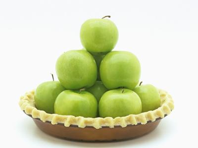 Granny Smith Apples in a Raw Pie Crust by Wally Eberhart