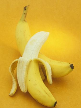 Peeled and Unpeeled Bananas (Musa Accuminata), Cavendish Variety by Wally Eberhart