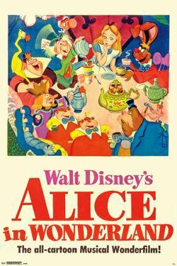 Walt Disney's  Alice In Wonderland - One Sheet