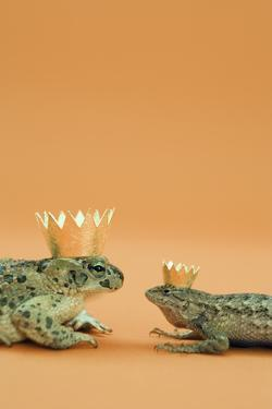 Frog and Lizard Wearing Crowns by Walter B. McKenzie