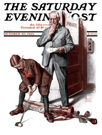 """""""Putting around the Office,"""" Saturday Evening Post Cover, October 20, 1923"""