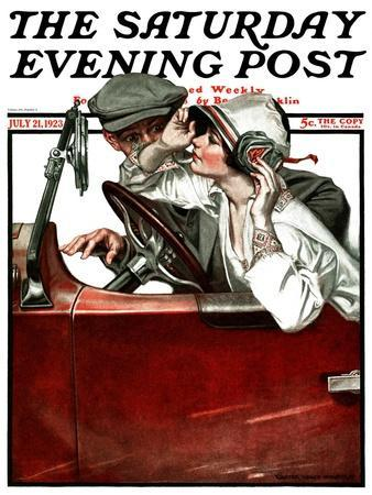 """""""Woman Driver,"""" Saturday Evening Post Cover, July 21, 1923"""