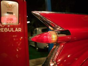 1959 Red Cadillac, Elvis Presley Automobile Collection Museum, Memphis, Tennessee, USA by Walter Bibikow