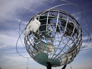 1964-65 World's Fair Unisphere, Corona Meadows Park, Flushing, New York, USA by Walter Bibikow