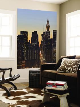 42nd Street and Chrysler Bldg, New York, USA by Walter Bibikow