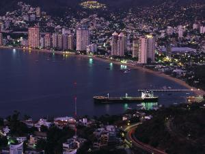 Acapulco Bay and Beach, Acapulco, Mexico by Walter Bibikow