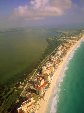 Aerial View of Cancun, Mexico by Walter Bibikow