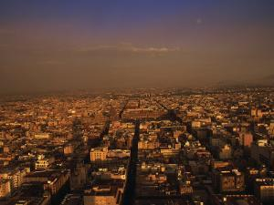 Aerial View of Mexico City, Mexico by Walter Bibikow