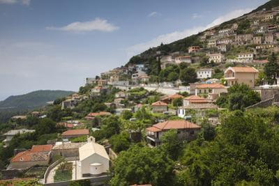 Albania, Albanian Riviera, Dhermi, Elevated Town View by Walter Bibikow