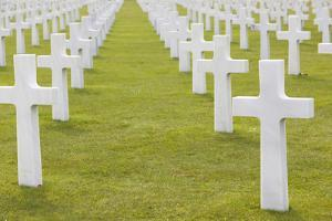 American Cemetery and Memorial, Colleville Sur Mer, Normandy, France by Walter Bibikow