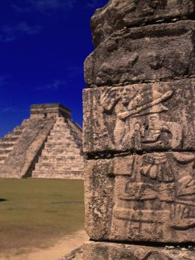 Ancient Mayan City Ruins, Chichen Itza, Mexico by Walter Bibikow