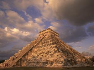 Ancient Mayan Ruins, Chichen Itza, Mexico by Walter Bibikow