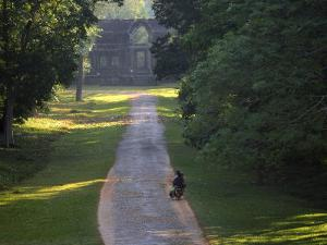Angkor Wat, Temple Road, Cambodia by Walter Bibikow