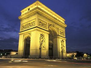 Arc de Triomph, Evening View, Paris, France by Walter Bibikow