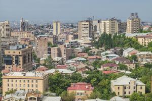 Armenia, Yerevan. The Cascade, city view. by Walter Bibikow