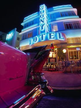 Art Deco at the Colony Hotel, South Beach, Miami, Florida by Walter Bibikow