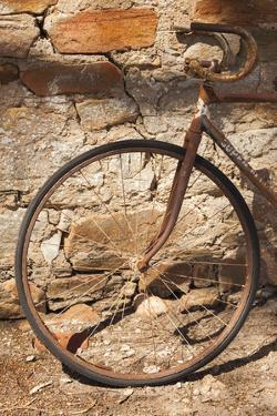 Australia, Clare Valley, Sevenhill, Old Bicycle by Walter Bibikow