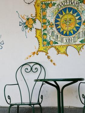 Bam Bar Cafe Detail, Taormina, Sicily, Italy by Walter Bibikow