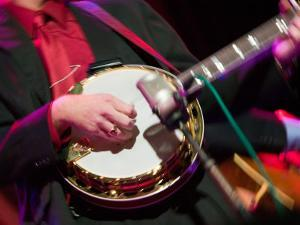 Banjo Player Detail, Grand Ole Opry at Ryman Auditorium, Nashville, Tennessee, USA by Walter Bibikow