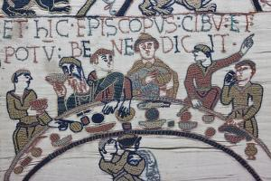 Bayeux Tapestry, Bayeux, Normandy, France by Walter Bibikow