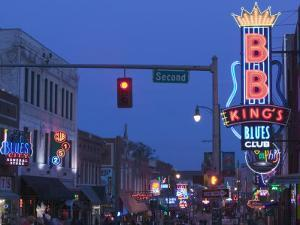 BB King's Club, Beale Street Entertainment Area, Memphis, Tennessee, USA by Walter Bibikow