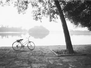 Bicycle and Bay Mau Lake Lenin Park by Walter Bibikow