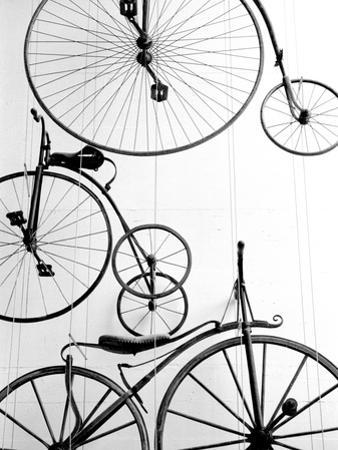 Bicycle Display at Swiss Transport Museum, Lucerne, Switzerland by Walter Bibikow