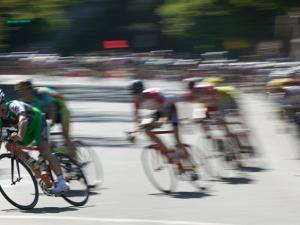 Bike Race, Downtown San Francisco, California, USA by Walter Bibikow