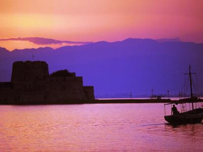 Bourtzi, Peloponnesos, Greece by Walter Bibikow