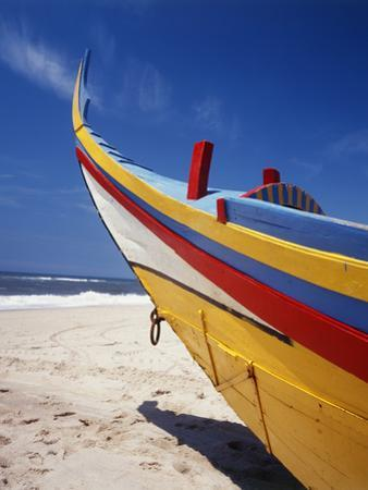 Bow of Fishing Boat, Silver Coast, Mira, Coimbra District, Portugal by Walter Bibikow