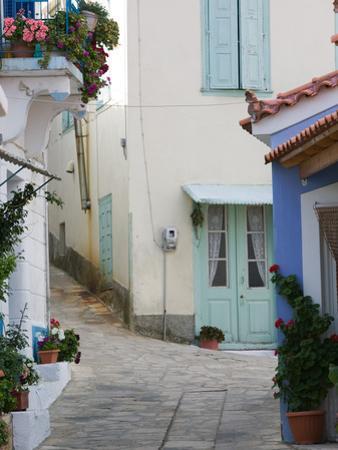 Building Detail, Manolates, Samos, Aegean Islands, Greece by Walter Bibikow