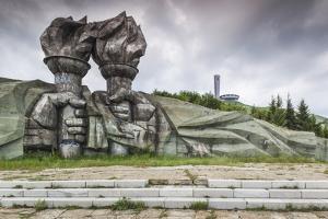 Bulgaria, Central Mountains, Shipka, Shipka Pass, Ruins of the Soviet-Era Buzludzha Monument by Walter Bibikow