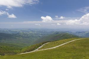 Bulgaria, Central Mountains, Troyan, Troyan Pass, Mountain View by Walter Bibikow