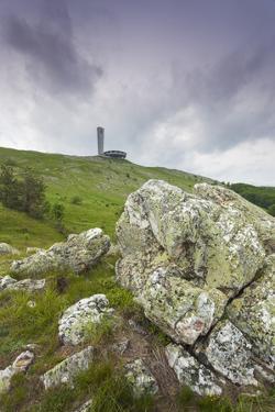 Bulgaria, Shipka Pass, Ruins of the Soviet-Era Buzludzha Monument by Walter Bibikow