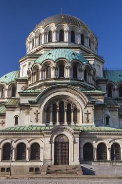 Bulgaria, Sofia, Ploshtad Alexander Nevski Square by Walter Bibikow