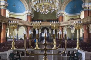 Bulgaria, Sofia, Sofia Synagogue, Sephardic Synagogue Interior by Walter Bibikow