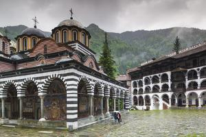 Bulgaria, Southern Mountains, Rila, Rila Monastery, Exterior by Walter Bibikow